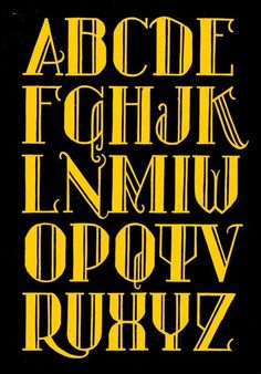 Alfabet based on the lettering of Zorgvlied. One of my favourites!