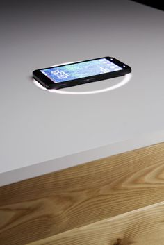 Katedra , A High Tech Desk That Charges Your Phone.very nice design!