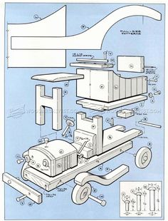 #1156 Wooden Toy Truck Plans - Children's Wooden Toy Plans and Projects