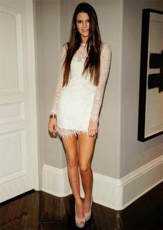 long hair cute dress