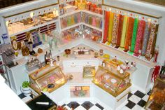 miniature candy store, click to see more pictures. Just amazing.