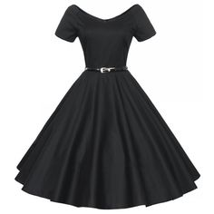 Elegante Audrey Hepburn 1950 s 60 s Vintage Retro Style patrones Sexy cuello en V Pin up Rockabilly columpio 50 s vestidos Cocktail Party(China (Mainland))
