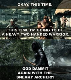 Everytime I start a new playthrough in Skyrim - Imgur