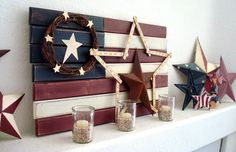 15 Fabulous Fourth Of July Mantels (flashback Friday)