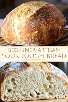 Homemade Sourdough bread is a worthy journey into Artisan bread making. The adventure begins with wild yeast starter and continues into the vast and rich history of naturally fermented bread baking. Artisan Sourdough Bread Recipe, Sourdough Bread Starter, Artisan Bread Recipes, Bread Maker Recipes, Sourdough Recipes, Easy Bread Recipes, Yeast Starter, Yeast Bread, Beginners Bread Recipe