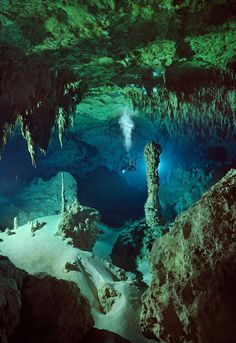 Underwater caves in Mexico--- I've already done this. Not sure I'll ever do it again... pretty scary stuff.