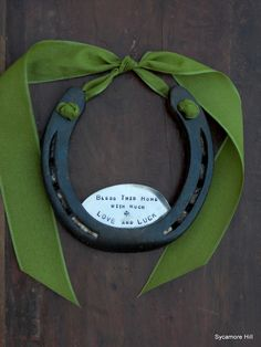 The Shamrock Love and Luck Horseshoe - Traditional Symbol of Good Luck Handmade Original by Sycamore Hill. $62.00, via Etsy.