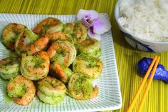 Shrimp with Asian Pesto via The Sweet & Sour Chronicles >> #WorldMarket Global Gourmet #recipes #shrimp