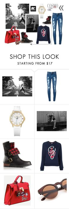 """""""Kick Up the Leaves (Stylishly) With SOREL: CONTEST ENTRY"""" by leliuscris ❤ liked on Polyvore featuring SOREL, Tommy Hilfiger and sorelstyle"""