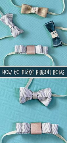 Click to learn how to make a hair bow out of ribbon - three unique bow making tutorials, with bonus leather instructions Fabric Bows, Fabric Strips, Ribbon Bows, Diy Fashion Accessories, Flower Hair Accessories, Bow Making Tutorials, Girly Things, Girly Stuff, Craft Free