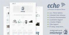 Echo: Clean and Simple WordPress Portfolio Theme by onioneye on Themeforest