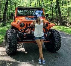 Jeep girls page Jeep Wrangler Girl, Jeep Wrangler Unlimited, Jeep Wranglers, Jeep Jk, Jeep Truck, Jeep Winch, Orange Jeep, Jeep Baby, Jeep Photos