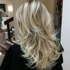 Short and Long Layers on Long Hair