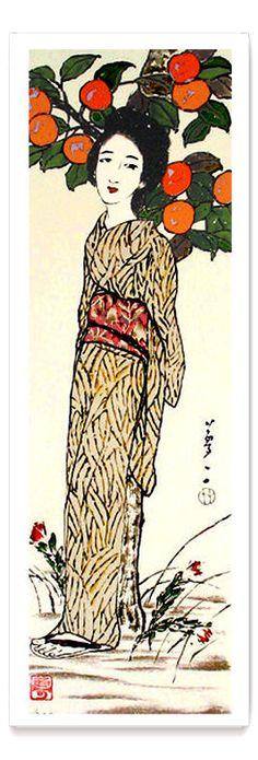 Yumeji Takehisa - Woman Under a Tree Art Painting, Asian Art, Western Art, Korean Art, Indian Art, Art, All Art, Eastern Art, Altered Art