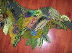 freeform crochet leaves - Google Search