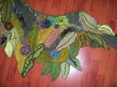 freeform crochet leaves - Google Search