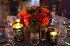 Moroccan-themed centerpieces