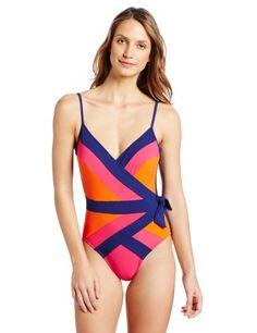 1d23d84b821bf Gottex Women's Kira Open Surplice One Piece Swimsuit, Pink Multi, 8 Online  Shop. shopforenvy · Swim Wear