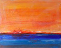 "Saatchi Art Artist Twyla Gettert; Painting, ""Orange Sea Sunset"" #art"