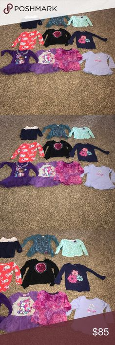 Girls 3t Fall Winter Clothes Lot This is a great lot of girls size 3t fall winter clothes lot. Includes long sleeve tops, dresses, matching outfits, pants, coats and PJs. All in great condition. Brands include Disney, Osh Kosh, Bonnie Jean, Gymboree, Carters. A total of 40 items. Carter's Shirts & Tops Tees - Long Sleeve