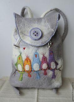 рюкзак с птичками - Теплый мир Гончаровой Галины - Ярмарка Мастеров