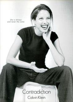 Contradiction by Calvin Klein, 1999 Model: Christy Turlington