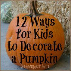 12 Ways to Decorate Halloween Pumpkins