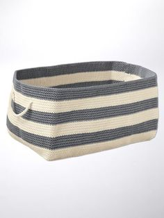 Rectangle Soft Storage ? Woven Storage Basket | Solutions