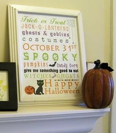 10 Free Halloween Subway Art Printables! / Six Sisters' Stuff | Six Sisters' Stuff
