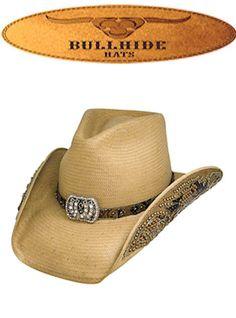 5678146a4b4 Bullhide Hats Western Fashion Straws Collection Cowgirl Fantasy 2640 Womens  Pecan