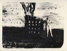 David Lynch - Factory at night with a nude
