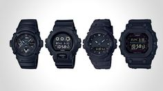 G-Shock Has Released Black Out Basic Series: GXW-56BB-1JF, AW-591BB-1A, DW-6900BB-1, G-100BB-1A