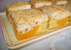 Luckies Rezepte & Leckereien: Aprikosenkuchen mit Kokosbaiser Ireland's culinary boom means that skilled cooks in Czech Desserts, Sweet Recipes, Cake Recipes, Kolache Recipe, Apricot Cake, Bread Dumplings, Czech Recipes, Types Of Cakes, Food Cakes