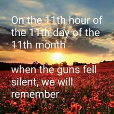 We will remember #ArmisticeDay