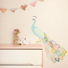 wall decals - love this peacock one!