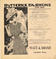 1910s Butterick 16 Page Flyer Sewing Pattern Catalog Rare 1908 Original Fashion #Simplicity
