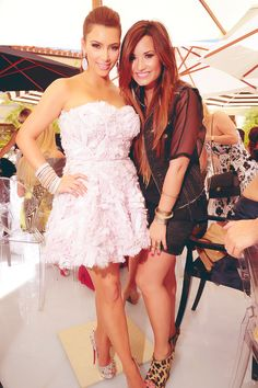 Kim Kardashian & Demi Lovato #beautiful