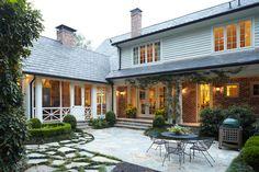 Screened porch and rear loggia: Buckhead area of Atlanta: PRITCHETT + DIXON