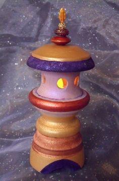 Cabochon Persnickity Wood Lantern Decor
