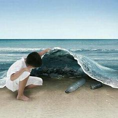 40 Funny But Creative Photo Manipulation Designs - Art ideas Pin Up, Save Our Oceans, Clean Beach, Free Beach, Underwater Photos, Believe In Magic, Picture Credit, Creative Photos, Animal Design