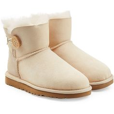 UGG Australia Sheepskin Bailey Mini Knit Bow Boots found on Polyvore featuring shoes, boots, ugg, rose, mini shoes, sheeps boots, ugg australia boots, sheepskin shoes and rubber sole boots
