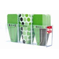 Clip-rite Clip-Tabs Small Printed Metro Green 12 Clip-Tabs per design Dispenser included 36 pieces (CRT-024 )