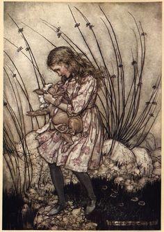 Arthur Rackham. Alice in Wonderland.