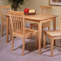 Natural Wood Kitchen Table And Chairs - Kitchen Photos Collections Counter Height Dining Table, Dining Table Design, Solid Wood Dining Table, Dining Table In Kitchen, Dining Room Sets, Room Kitchen, Dining Tables, Esstisch Design, Dining Furniture