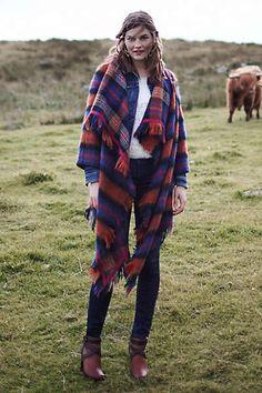 Tartan Blanket Coat   Anthropologie