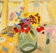 ❀ Blooming Brushwork ❀ - garden and still life flower paintings - Winifred Nicholson - A Nursery Bunch (1927)