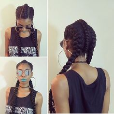 """By @chimeedwards 😎 I wanted to do something different besides the two long corn rows on each side so I kept the center braid from the style I did a few days ago. The braid was too long so I tucked it right before it hit my """"kitchens"""" haha I love unique protective styles💛 Liquid Lipstick: @mjlcosmetics #naturalhair #naturalhairstyle #naturalhairdaily #naturallyshesdope #naturalstyles #braidedstyles #berrycurly #nhdaily #naturalhairjourney #naturalhaircommunity #hairstyles"""