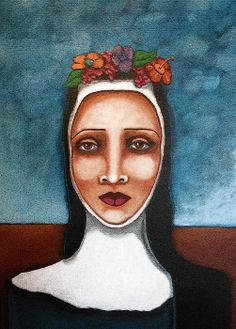 Painting I did of a nun....with a lot of faith!  Sherry Dooley