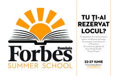 Forbes Summer School – Cei zece pași către succes My Town, Summer School