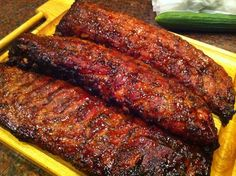 Baby Backs, my son's specialty. Oh my yes!
